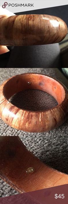 Kenneth Jay Lane Wooden Bangle KJL Wooden Bangle/Bracelet. Came as a set with a yellow one but I can't seem to find it. Kenneth Jay Lane Jewelry Bracelets