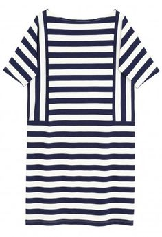 Summer Nautical Dress That I Would Pair With Strappy Flat Sandals - Samuji