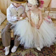 ring bearer and flower girl  Dress for vi? @Amanda Snelson Snelson Snelson Snelson Snelson granado