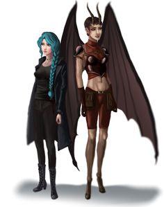 Madrigal And Karou by Izumii89.deviantart.com on @DeviantArt