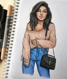 YSL ✨ #fashionsketch #fashiondrawing #fashionillustration #drawing #illustration #art #artist #fashionable #nataliamadej #sketch