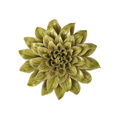 The dimensional Isabella small ceramic wall decor rose adds depth and dimension to walls.