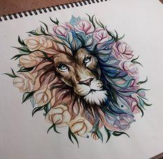 #Leão * #Lion ♡ #Desenho.