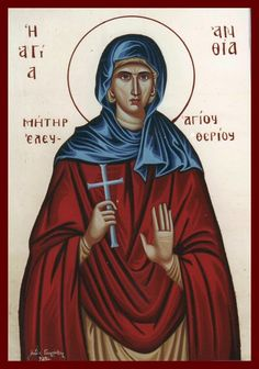 Anthia by Lydia Gourioti Greek Icons, Saint A, Orthodox Icons, Ikon, Prayers, Christian, Movie Posters, Baptism Ideas, Santorini