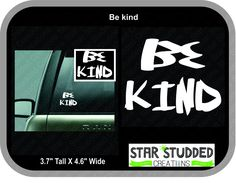 Be Kind Sticker, Show your love, Bring Positive Change, Stop Racism, Watch your words, Be compassionate, by StarStuddedCreate on Etsy