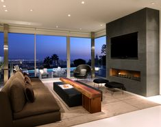 Minimalist dream pad perched hillside overlooking Los Angeles