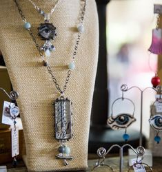 Artist Susan Walls brings her unique brand of handmade shrink plastic jewelry to Glitterfest Spring! Join us on May 2nd and see her not-so-everyday pieces! Shrink Plastic Jewelry, Medium Art, Handmade Art, Mixed Media Art, Join, Walls, Spring, Unique, Artist