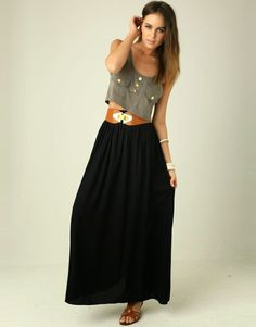 maxi skirt combine