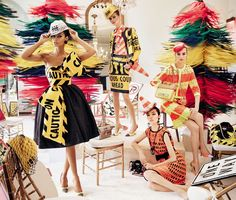 Joan Smalls, Fei Fei Sun, Lexi Boling and Maartje Verhoef star in Moschino spring summer 2016 campaign