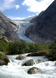 #ледник Briksdalsbreen, Норвегия