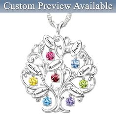 Family Of Love Personalized Pendant Necklace. I love their personalized jewelry. So pretty and very original.