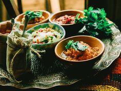 Марокканская версия овощной икры из запечённых баклажанов и перцев - заалук.