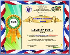 Certificate Of Excellence for Students Beautiful Procedure On Ranking Pupils Excellence Award Certificate & token Templates Deped Lp S Perfect Attendance Certificate, Certificate Layout, Certificate Background, Certificate Design Template, Certificate Of Achievement, Award Certificates, Attendance Chart, Certificate Border, Sample Certificate Of Recognition