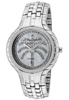Price:$217.59 #watches Christian Bernard MA368ZWW6, Resplendent, sensuous and detailed, with a slightly curved glass and ribbon esges along the casee, expresses its very distinguished character Curved Glass, Michael Kors Watch, Rolex Watches, Bracelet Watch, Ribbon, Christian, Bracelets, Character, Accessories