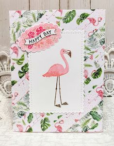 Recent Cards Flamingo Photo, Kawaii Pens, Pen Shop, Monthly Themes, I Adore You, Paper Strips, Bird Cards, Girl Blog, Happy Day