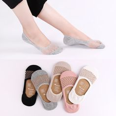 Fashion Women's Lace Antiskid Invisible Boat Sock Summer Thin Breathable Short Ankle Socks online - NewChic Mobile.