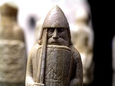 Lewis Chessman, British Museum    Probably made in Norway, about AD 1150-1200  Found on the Isle of Lewis, Outer Hebrides, Scotland