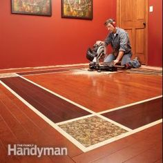 YAY!!!  What to do about those old floor holes! DIY Hardwood Floors: Lay a Contrasting Border | The Family Handyman