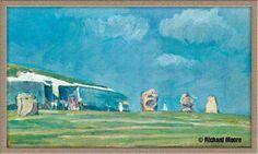 Two views of Newgrange Painting, Art, Art Background, Painting Art, Kunst, Paintings, Performing Arts, Painted Canvas, Drawings