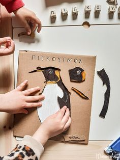 Cardboard activity with penguin's body parts Body Parts, Penguins, Kai, Activities For Kids, Children, Blog, Cards, Young Children, Parts Of The Body