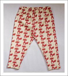 Fox Pattern Baby Leggings