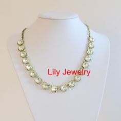 Bling Crystal Statement Necklace Jewelry Bib by Attractivenecklace, $10.80