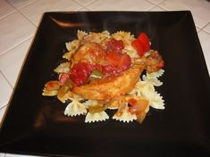 This recipe is from Keith Young who won the throwdown for Chicken Cacciatore with Bobby Flay. It is sooo good and even better the next day. I doubled the recipe using 22 chicken thighs and doubled the rest of the ingredients. I left out the hot pepper flakes because I dont like them and served it over fettuccine. I doubled it so I could freeze some for another meal. My family loved this recipe and it is now my go to recipe for cacciatore. I baked mine in a large catering pan for about and…