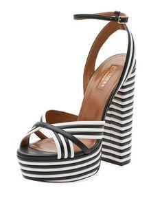 214b8afa712dc AQUAZZURA SUNDANCE PLATEAU LEATHER PLATFORM SANDAL.  aquazzura  shoes    Platform Shoes