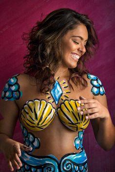 Unteroffizier und Fotograf - Projeto O Ser de Luana Belly Painting, Painted Bikini, Female Body Paintings, Full Body Paint, Human Body Art, Beautiful Fantasy Art, Painted Clothes, Moda Emo, Fashion Painting