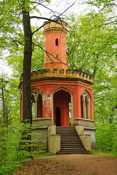 Charles IV lookout tower in Karlovy Vary / Czech Republic...
