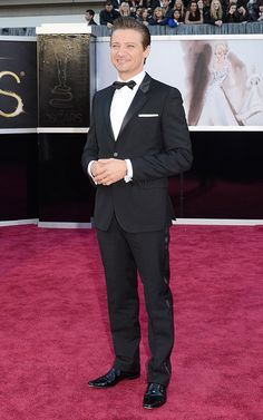 Jeremy Renner in a custom Givenchy suit