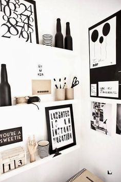 62 Ideas Home Office Design Ikea Black White Home Office Design, Office Decor, House Design, Office Art, Office Ideas, Black And White Office, Black White, Blue Office, White Beige