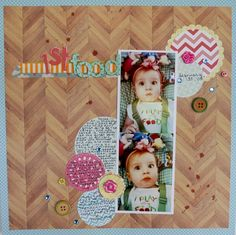 A Project by katebroccoli from our Scrapbooking Gallery originally submitted at AM Scrapbook Pages, Scrapbooking, Scrapbook Layouts, Childhood, My Favorite Things, Gallery, Frame, Pretty, Projects