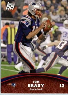 2011 Topps Rising Rookies Football Card # 40 Tom Brady - New England Patriots - NFL Trading Card Protective Screwdown Display Case by Topps. $0.75. NOTE: Stocl Image is used!. Check back weekly, as we are always adding more inventory!!. This is one of the 1000s of great 2011 football cards being offered here!. Great looking 2011 Topps Football Card !. This is one of 200 different cards available from the regular issue set of 2011 Topps Rising Rookies !!. 2011 Topps...