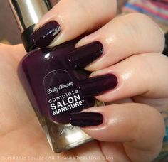 Sally Hansen Complete Salon Manicure Fall 2013 Nail Polishes in Malbec & Gold Roses
