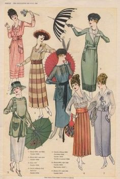 Fashion in 1918 - Women and Men During WWI 1918 Fashion, Fashion History, Teen Fashion, Fashion Goth, Fashion Men, Fashion Brands, Edwardian Dress, Edwardian Fashion, Vintage Fashion