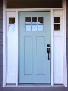 51 ideas blue front door paint colors home Painted Exterior Doors, Front Door Paint Colors, Exterior Front Doors, Exterior Paint Colors For House, Painted Front Doors, Paint Colors For Home, Exterior Colors, Colored Front Doors, Diy Exterior Door
