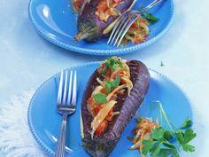 Rezept: Auberginen mit Gemüsefüllung