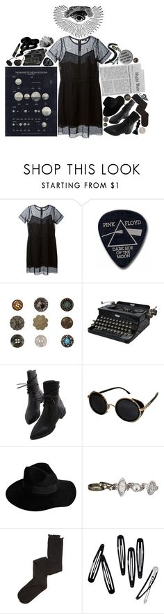 """""""The sky: mostly void, partially stars"""" by georginasmith-wastaken ❤ liked on Polyvore featuring Marc Jacobs, Floyd, Jayson Home, Manic Panic NYC, Topshop, By Malene Birger, maurices, Intimately Free People and H&M"""