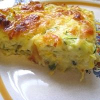 "Mexican Zucchini Casserole Recipe -- note that ingredient is ""biscuit baking mix""."