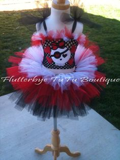 Pirate Girl Costume TuTu Set. $46.50, via Etsy.