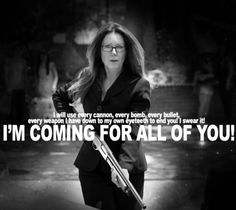 Laura Roslin is coming for you!! Battlestar Galactica