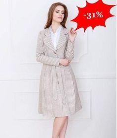 Elegancki płaszcz taliowany z wełny  Długość za kolana! Na podszewce  -31% http://ift.tt/2gsfj1s