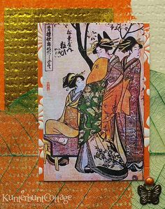 Asian inspired card - Detail by Cutbush, via Flickr