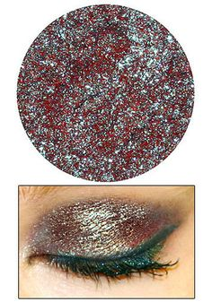 "Multi-colored eyeshadow, named ""Dragon Scales."" Why do I not own this yet?"