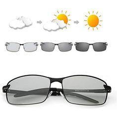 f938ab04b2 OSVAW Gafas de sol polarizadas fotocromáticas para hombre protección UVB  100% UVA con marco de