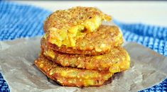 """Cheesy"" Yellow Split Pea Patties with Tofu and Sesame"