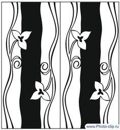 Пескоструйный рисунок Цветы №289