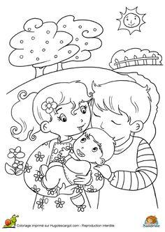 16 Meilleures Images Du Tableau Coloriage Maman Papa Coloring