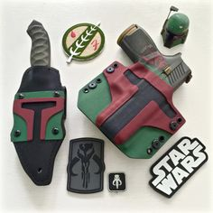 """everydaycivilian: """"In honor of Disney announcing Star Wars attractions in Florida and California: Here's my Sig and Winkler Knives II Spike with custom holsters. Boba Fett Mandalorian, Starwars, Firearms, Shotguns, Custom Holsters, Star Wars The Old, Edc Tactical, Everyday Carry Gear, Kydex Holster"""